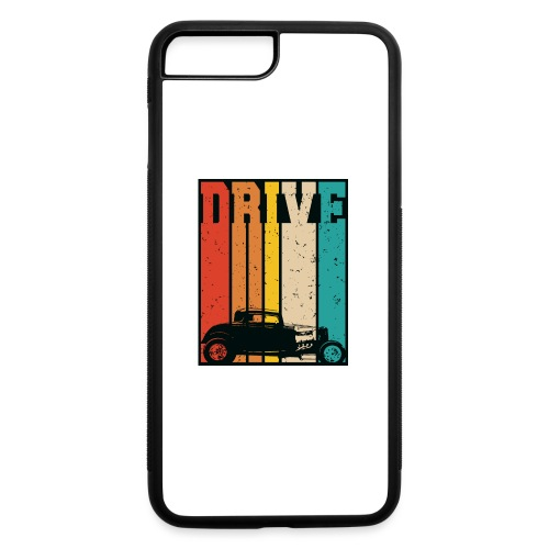 Drive Retro Hot Rod Car Lovers Illustration - iPhone 7 Plus/8 Plus Rubber Case