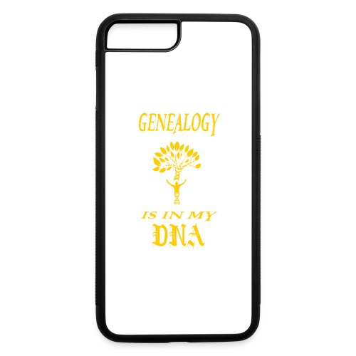 genealogy is in my dna funny birthday gift yellow - iPhone 7 Plus/8 Plus Rubber Case