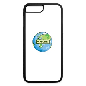 EXPLORE! Logo on the Earth - iPhone 7 Plus/8 Plus Rubber Case