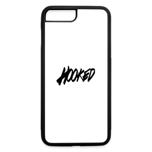 Hooked black logo - iPhone 7 Plus/8 Plus Rubber Case