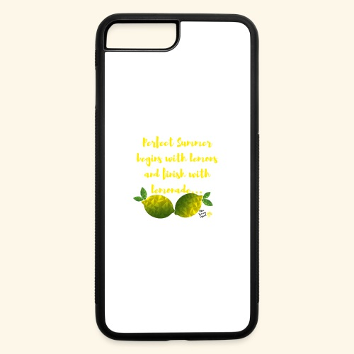 Perfect Summer begins with lemons and finish with - iPhone 7 Plus/8 Plus Rubber Case