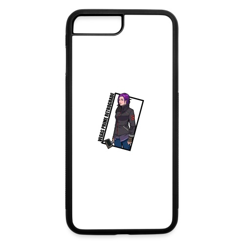 Vegas Prime Retrograde - Clara with Black Border - iPhone 7 Plus/8 Plus Rubber Case