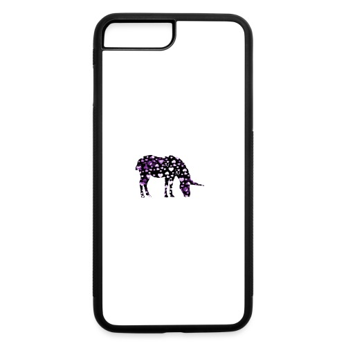 Unicorn Hearts purple - iPhone 7 Plus/8 Plus Rubber Case