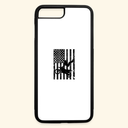 American Flag (Black and white) - iPhone 7 Plus/8 Plus Rubber Case