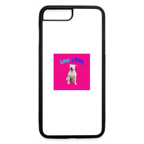 Pink Pit Bull - iPhone 7 Plus/8 Plus Rubber Case