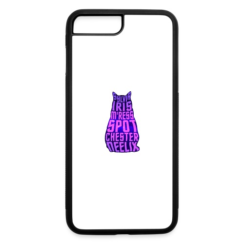 Trek Cats (pink and purple letters) - iPhone 7 Plus/8 Plus Rubber Case