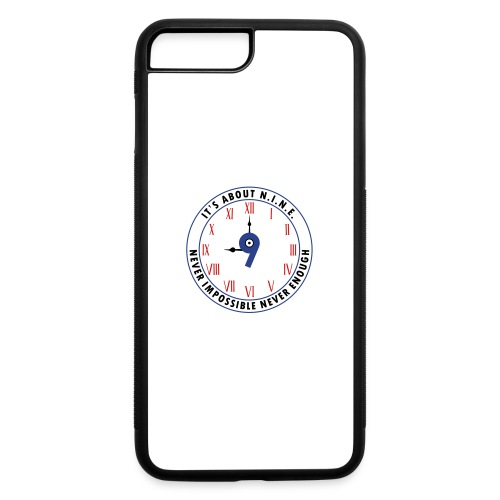 NINE Logo v2 2018 blue Outlines Red Numbers - iPhone 7 Plus/8 Plus Rubber Case