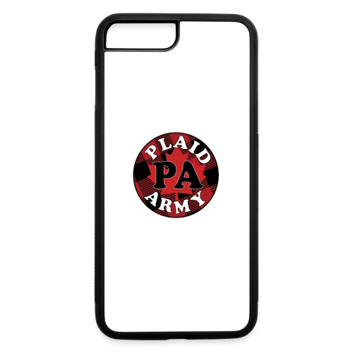 plaid army round - iPhone 7 Plus/8 Plus Rubber Case
