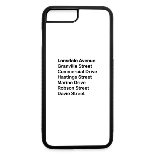 Street Names Black Text - iPhone 7 Plus/8 Plus Rubber Case