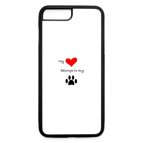 Dog Lovers shirt - My Heart Belongs to my Dog - iPhone 7 Plus/8 Plus Rubber Case