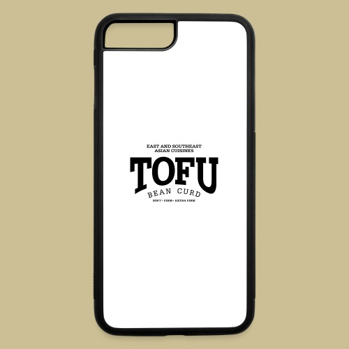 Tofu (black) - iPhone 7 Plus/8 Plus Rubber Case