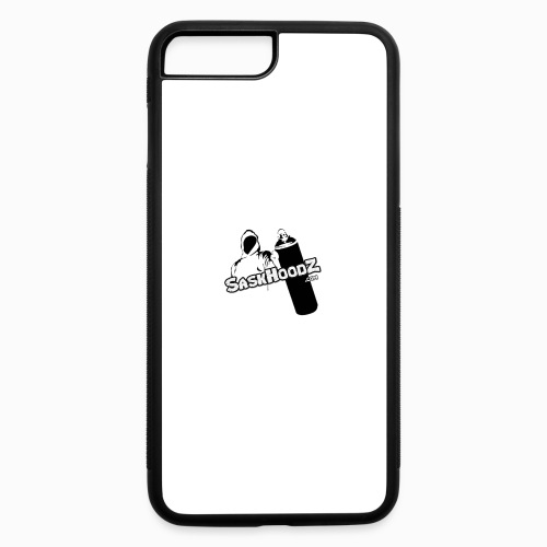 saskhoodz logo black - iPhone 7 Plus/8 Plus Rubber Case