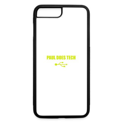 Paul Does Tech Yellow Logo With USB (MERCH) - iPhone 7 Plus/8 Plus Rubber Case