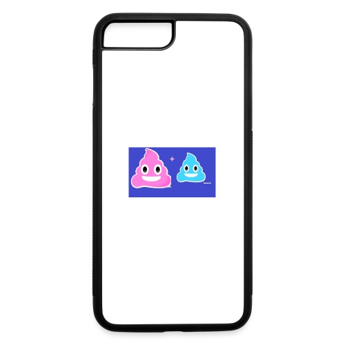 blue and pink poop - iPhone 7 Plus/8 Plus Rubber Case