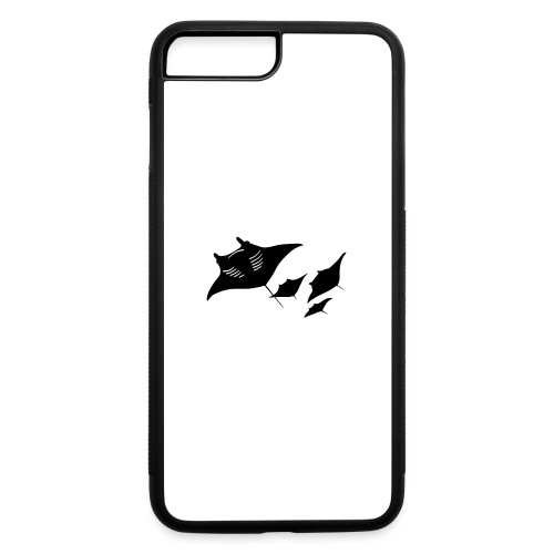 manta ray sting scuba diving diver dive - iPhone 7 Plus/8 Plus Rubber Case