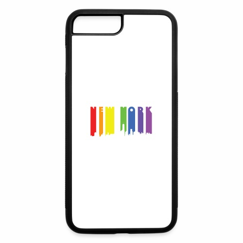 New York design Rainbow - iPhone 7 Plus/8 Plus Rubber Case