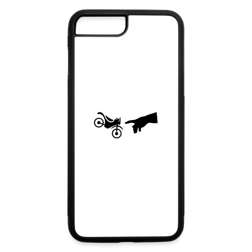 The hand of god brakes a motorcycle as an allegory - iPhone 7 Plus/8 Plus Rubber Case