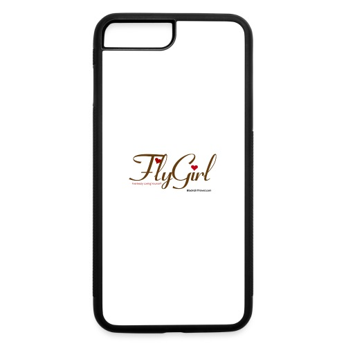 FlyGirlTextGray jpg - iPhone 7 Plus/8 Plus Rubber Case