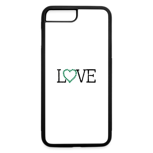 LOVE irish shamrocks - iPhone 7 Plus/8 Plus Rubber Case