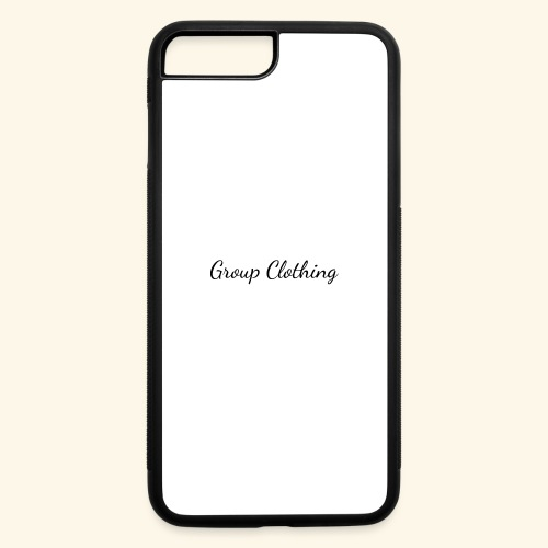 Cursive Black and White Hoodie - iPhone 7 Plus/8 Plus Rubber Case