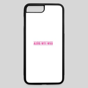 AliensWithWigs-Logo-Rose - iPhone 7 Plus/8 Plus Rubber Case