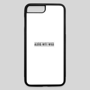 AliensWithWigs-Logo-Noir - iPhone 7 Plus/8 Plus Rubber Case