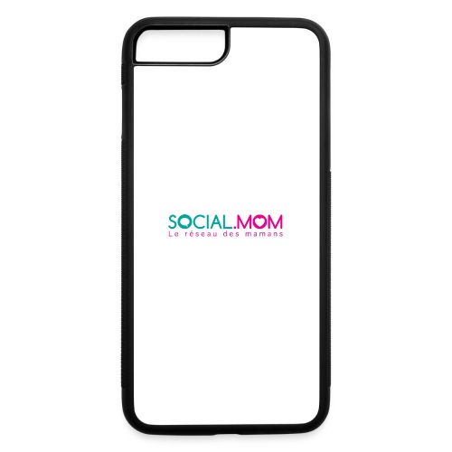 Social.mom logo français - iPhone 7 Plus/8 Plus Rubber Case