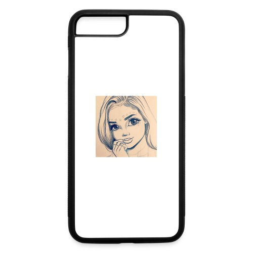 c7cae63168a24ef3c45fb8482aa467a3 drawing girls - iPhone 7 Plus/8 Plus Rubber Case
