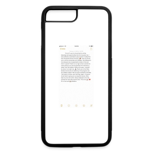 Text from a Football Commit - iPhone 7 Plus/8 Plus Rubber Case