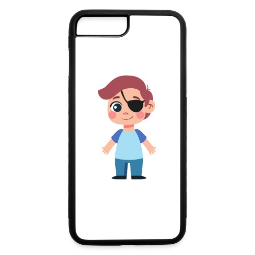 Boy with eye patch - iPhone 7 Plus/8 Plus Rubber Case