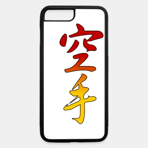 Karate Kanji Red Yellow Gradient - iPhone 7 Plus/8 Plus Rubber Case