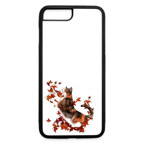 Autumn Cat - cat playing with autumn leaves - iPhone 7 Plus/8 Plus Rubber Case