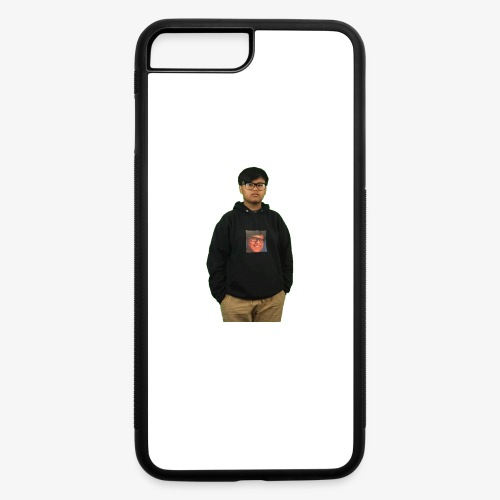 me wearing a hoodie of me - iPhone 7 Plus/8 Plus Rubber Case