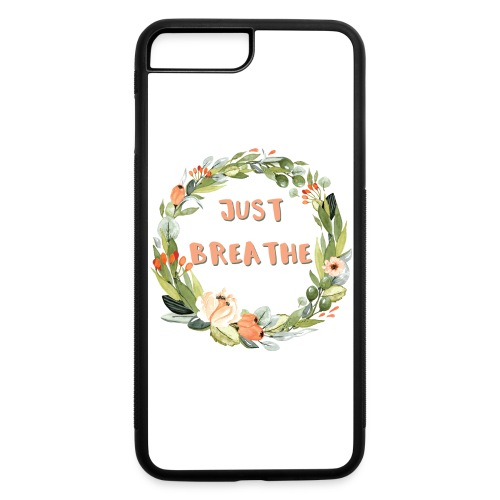 Just Breathe Floral Wreath - iPhone 7 Plus/8 Plus Rubber Case