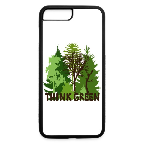EARTHDAYCONTEST Earth Day Think Green forest trees - iPhone 7 Plus/8 Plus Rubber Case