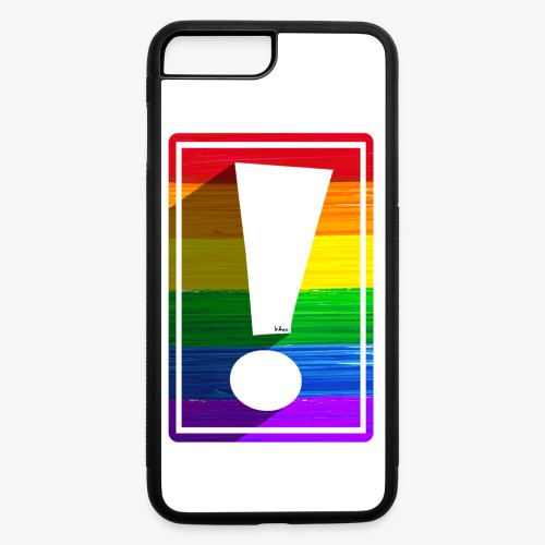 LGBTQ Pride Exclamation Point - iPhone 7 Plus/8 Plus Rubber Case