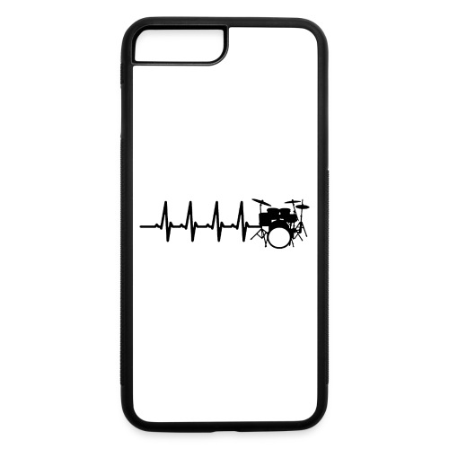 Drums Heartbeat Funny drummer - iPhone 7 Plus/8 Plus Rubber Case