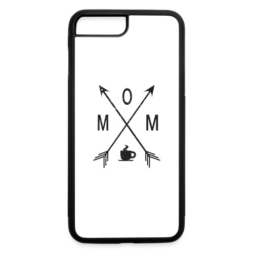 Mom Loves Coffee (black ink) - iPhone 7 Plus/8 Plus Rubber Case