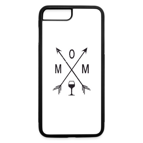 Mom Loves Wine (black ink) - iPhone 7 Plus/8 Plus Rubber Case