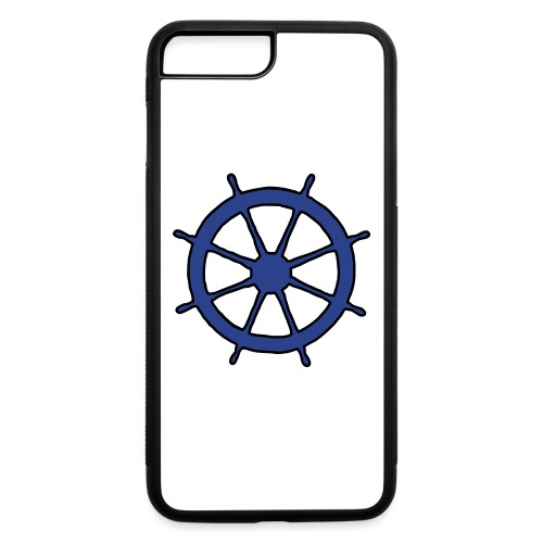 Steering Wheel Sailor Sailing Boating Yachting - iPhone 7 Plus/8 Plus Rubber Case
