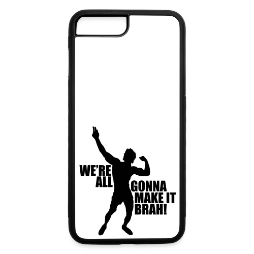 Zyzz Silhouette we're all gonna make it - iPhone 7 Plus/8 Plus Rubber Case