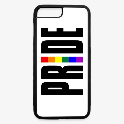Vertical Pride with LGBTQ Pride Flag - iPhone 7 Plus/8 Plus Rubber Case