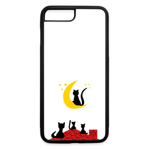 Cats on the roof - iPhone 7 Plus/8 Plus Rubber Case