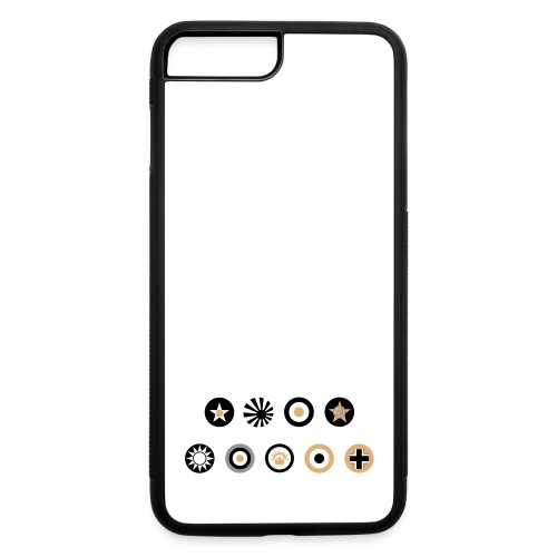 Axis & Allies Country Symbols - 3 Color - iPhone 7 Plus/8 Plus Rubber Case