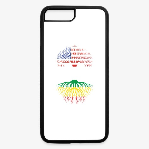 American Grown With African Roots T-Shirt - iPhone 7 Plus/8 Plus Rubber Case