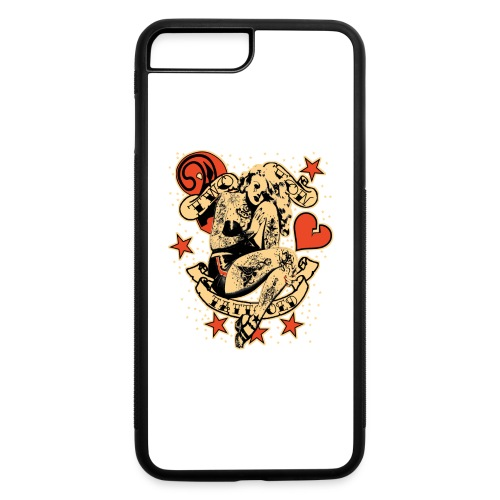 Screwed & tattooed Pin Up Zombie - iPhone 7 Plus/8 Plus Rubber Case