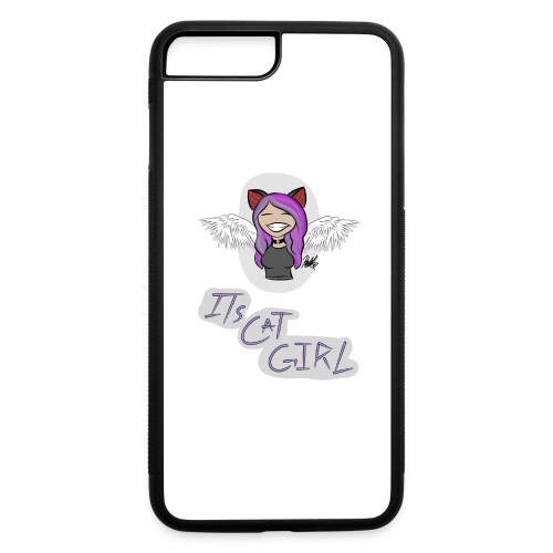 Cat girl logo - iPhone 7 Plus/8 Plus Rubber Case