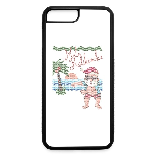 Ugly Christmas Sweater Hawaiian Dancing Santa - iPhone 7 Plus/8 Plus Rubber Case