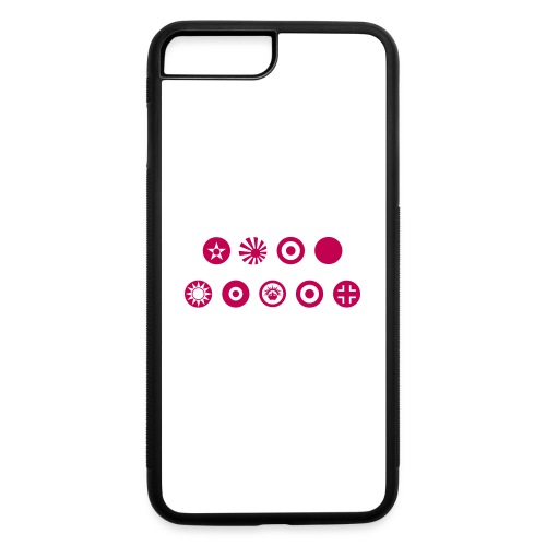 Axis & Allies Country Symbols - One Color - iPhone 7 Plus/8 Plus Rubber Case