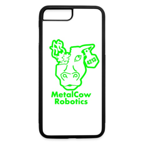 MetalCowLogo GreenOutline - iPhone 7 Plus/8 Plus Rubber Case